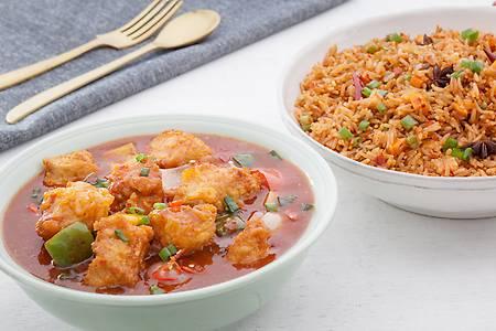 Combo Hot Garlic Fried Rice - Bombay Chili