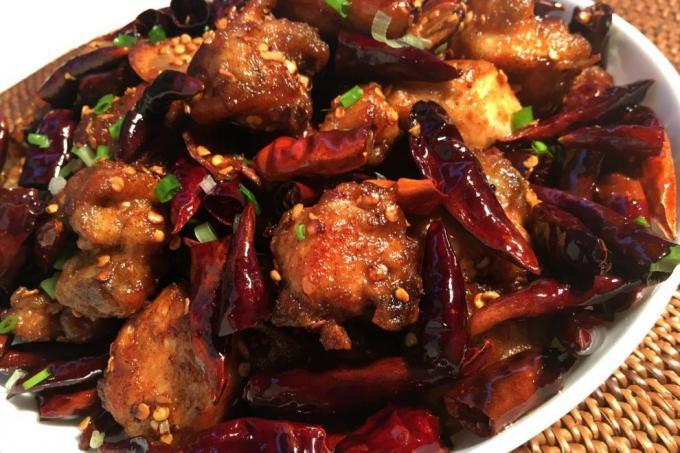 Schezwan Chicken Dry - Bombay Chili
