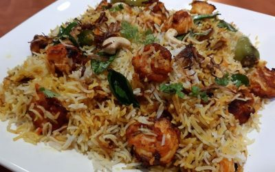 Shrimp Briyani - Bombay Chili